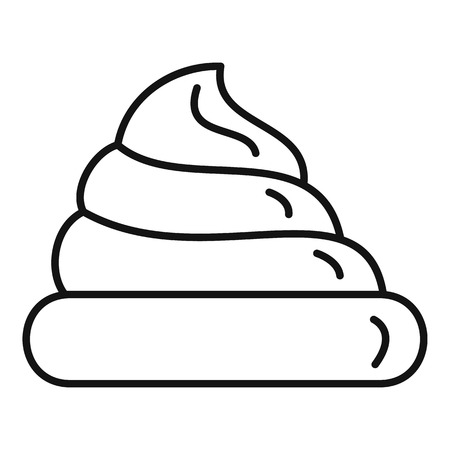 Fresh meringue icon, outline style Illustration