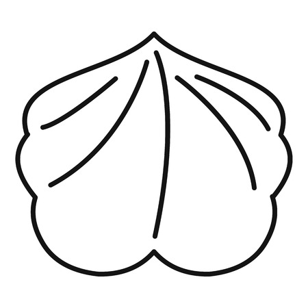 Tasty meringue icon, outline style Illustration