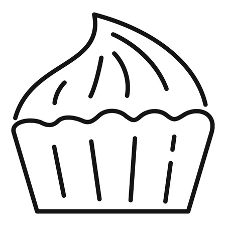 Shop meringue icon. Outline shop meringue vector icon for web design isolated on white background