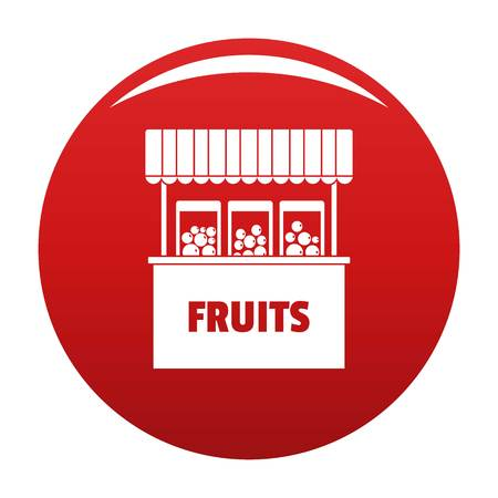 Fruits selling icon, vector illustration Stock Illustratie