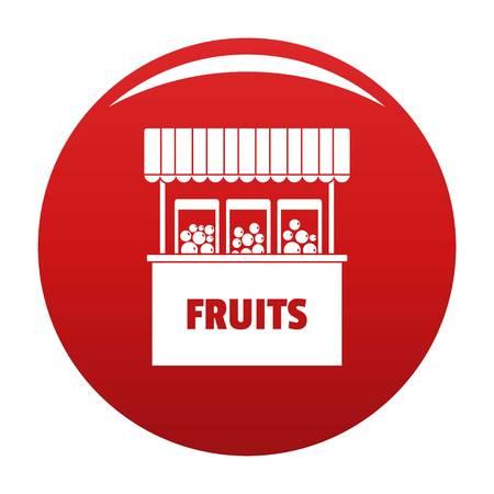 Fruits selling icon, vector illustration Illustration