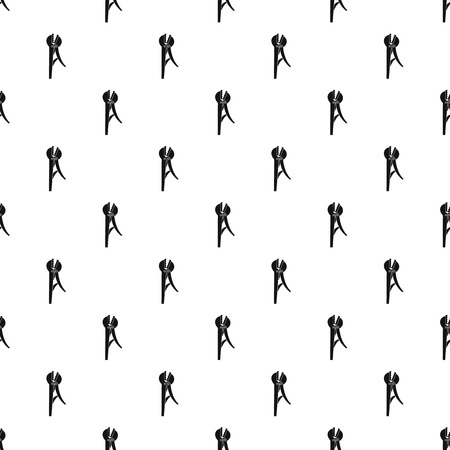 Pliers pattern seamless vector repeat geometric for any web design