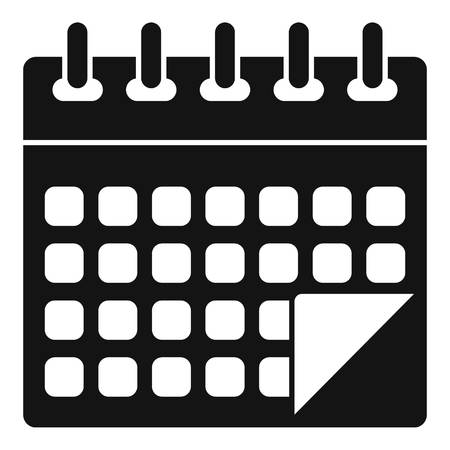 Management calendar icon. Simple illustration of management calendar vector icon for web design isolated on white background
