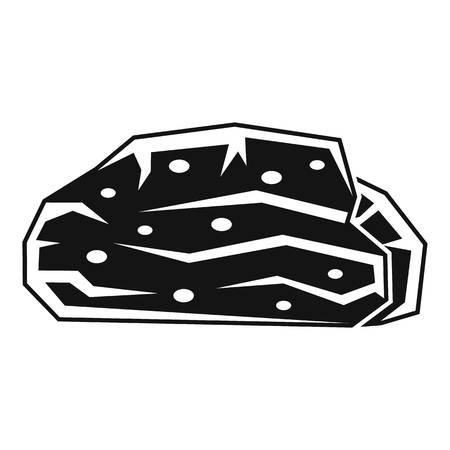 Peat stone icon, simple style