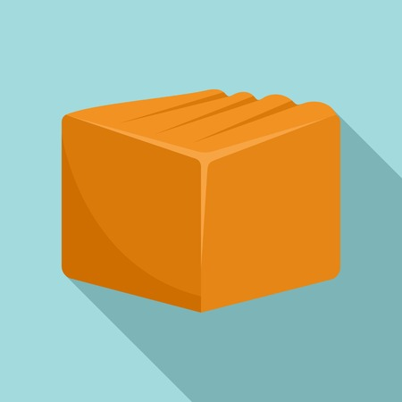 Tasty toffee icon, flat style