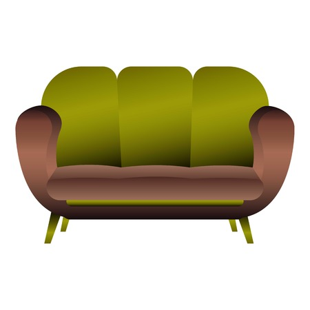 Pillow sofa icon. Cartoon of pillow sofa vector icon for web design isolated on white background