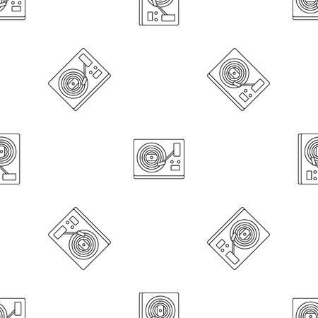 Modèle de lecteur de vinyle sans soudure, illustration vectorielle