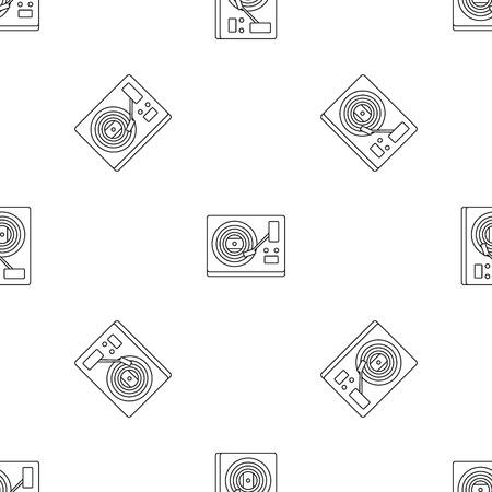 Vinyl player pattern seamless, vector illustration Illustration