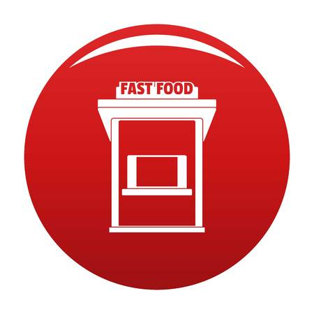 Fast food trade icon, vector illustration