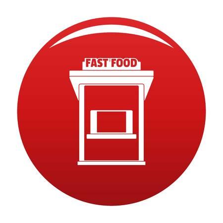 Fast food trade icon, vector illustration