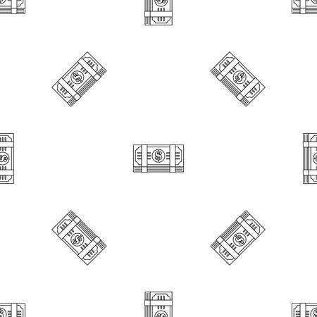 Dollar pack pattern seamless vector repeat geometric for any web design