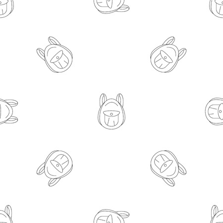 Tourist backpack pattern seamless vector repeat geometric for any web design