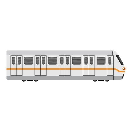 Subway city train icon, cartoon style Ilustracja
