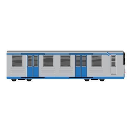 Grey blue subway train icon, cartoon style Zdjęcie Seryjne - 122326175