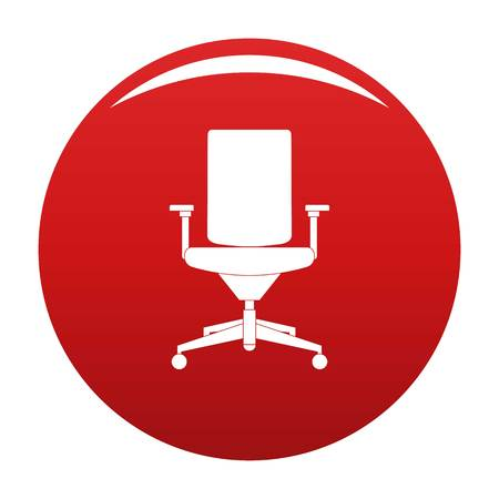 Comfortable armchair icon vector red