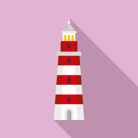 Beacon icon. Flat illustration of beacon icon for web design Banque d'images