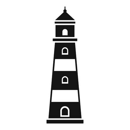 Coast lighthouse icon. Simple illustration of coast lighthouse icon for web design isolated on white background Фото со стока