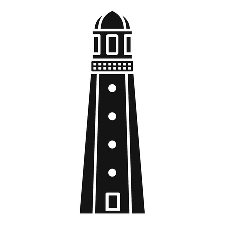 Harbor lighthouse icon. Simple illustration of harbor lighthouse icon for web design isolated on white background Imagens