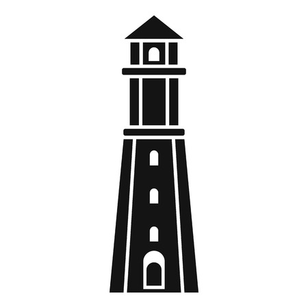 Radar lighthouse icon. Simple illustration of radar lighthouse icon for web design isolated on white background