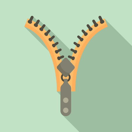 Zipper element icon. Flat illustration of zipper element icon for web design