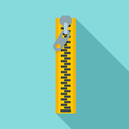 Dress zipper icon. Flat illustration of dress zipper icon for web design