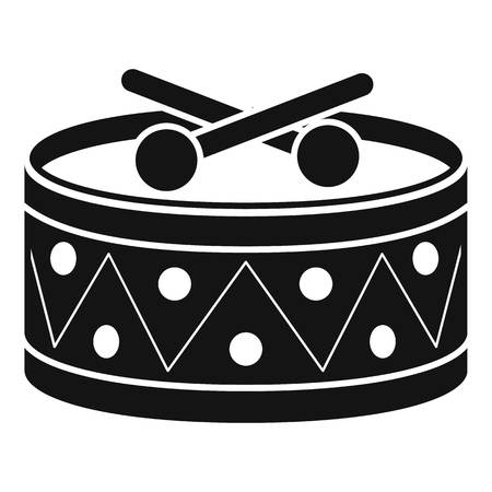 Drums toy icon. Simple illustration of drums toy icon for web design isolated on white background Banco de Imagens