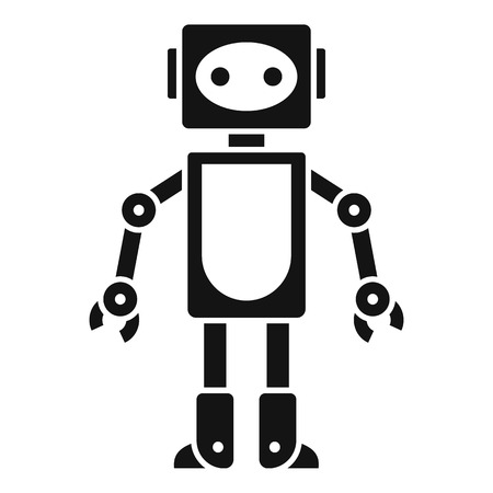 Robot toy icon. Simple illustration of robot toy icon for web design isolated on white background