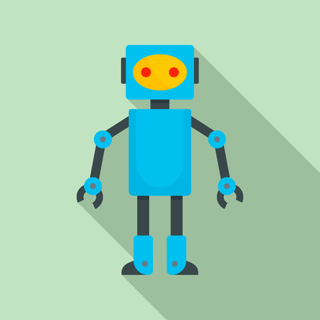 Robot toy icon. Flat illustration of robot toy icon for web design