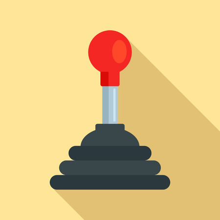 Mechanic gearbox icon. Flat illustration of mechanic gearbox icon for web design
