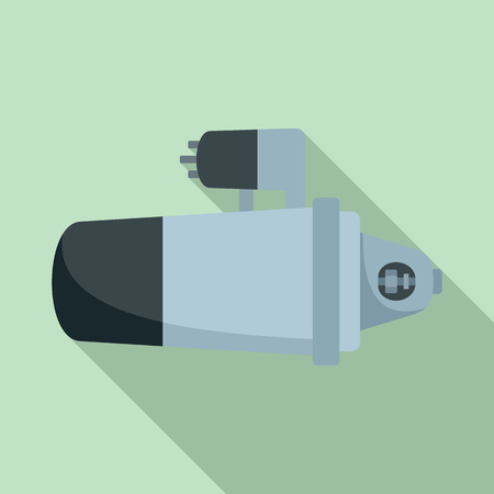 Car starter icon. Flat illustration of car starter icon for web design