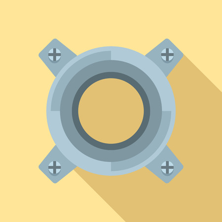 Gearbox releaser icon. Flat illustration of gearbox releaser icon for web design Stock Photo
