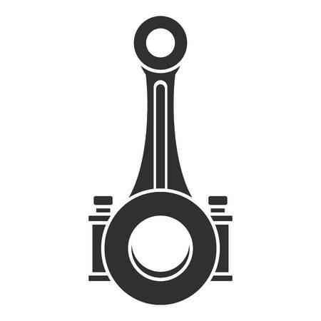 Icône d'arbre de bielle de piston. Simple illustration de l'icône de l'arbre de bielle de piston pour la conception web isolé sur fond blanc