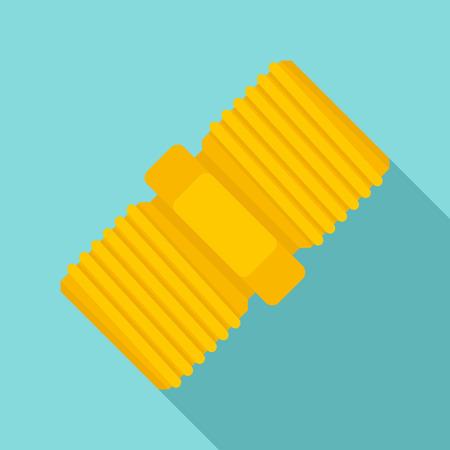 Screw-thread icon. Flat illustration of screw-thread icon for web design Stock Photo