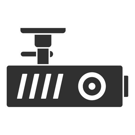 Car dash cam icon. Simple illustration of car dash cam icon for web design isolated on white background Banque d'images