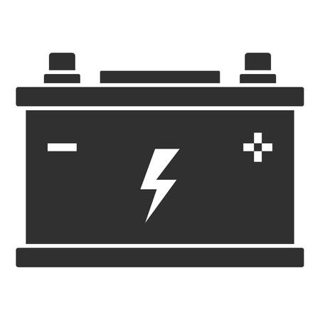 Car battery icon. Simple illustration of car battery icon for web design isolated on white background Imagens