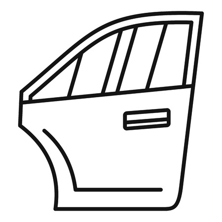 Car door icon. Outline car door icon for web design isolated on white background Archivio Fotografico - 122332393