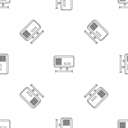 Electric boiler icon. Outline illustration of electric boiler icon for web design isolated on white background