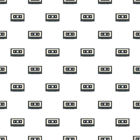Music casette pattern seamless repeat for any web design