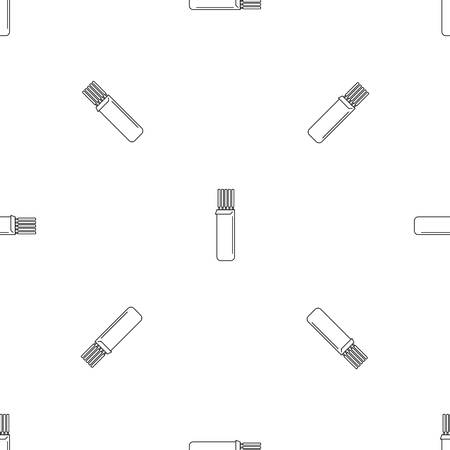 Electrodes icon. Outline illustration of electrodes icon for web design isolated on white background