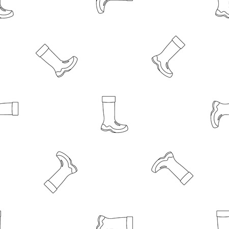 Rubber boots icon. Outline illustration of rubber boots icon for web design isolated on white background