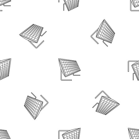 Battery solar panel icon. Outline illustration of battery solar panel icon for web design isolated on white background