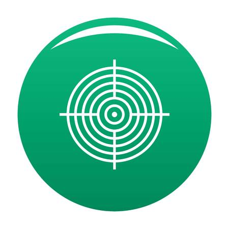 Aiming radar icon. Simple illustration of aiming radar icon for any design green