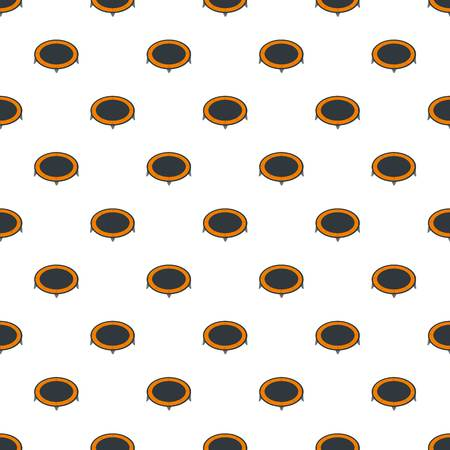 House trampoline pattern seamless repeat for any web design