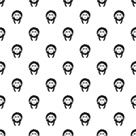 Front face sheep pattern seamless repeat geometric for any web design Stok Fotoğraf