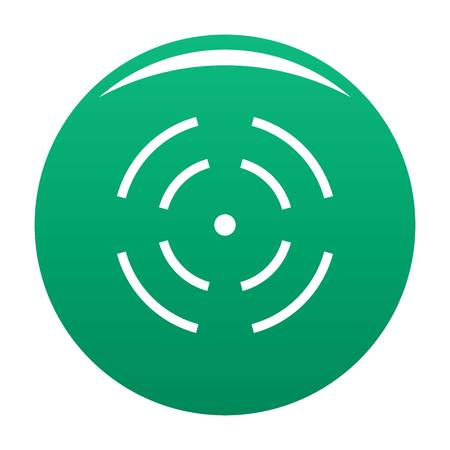 Point radar icon. Simple illustration of point radar icon for any design green Reklamní fotografie