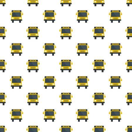 Yellow school mini bus icon. Flat illustration of yellow school mini bus icon for web design
