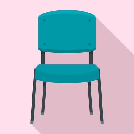 Office chair icon. Flat illustration of office chair icon for web design