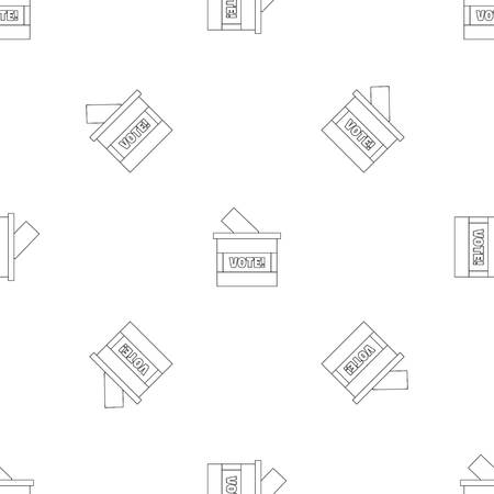 Wood vote box pattern seamless repeat geometric for any web design