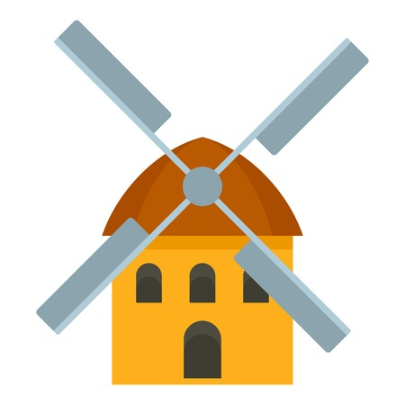 Windmill icon. Flat illustration of windmill icon for web design Reklamní fotografie - 122333231