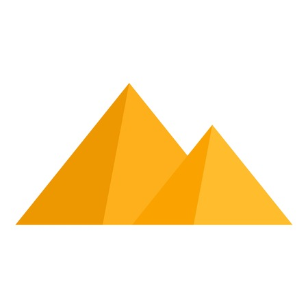 Egyptian pyramid icon. Flat illustration of egyptian pyramid icon for web design